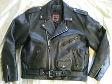 Heavy Leather Motorcycle Jacket Biker Classic Brando Perfecto Cafe Racer XL 46