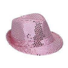 borsalino en tissu rose vif avec paillettes rose taille 52 Chapeaux mode fetes