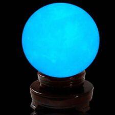 New 35MM Blue Luminous Quartz Crystal Sphere Ball Glow In The Dark Stone