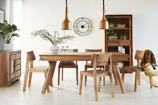 Indus Solid Sheesham Wood Large Dining Set with 6 Chairs And 1 Table