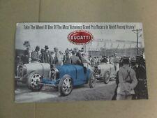Franklin Mint Brochure 1924 Bugatti Type 35 Open Wheel Racer