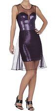 New with defect $498 BCBG Max Azria Korina Pleated Tulle Overlay B1501 Dress SzL
