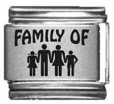 Clearly Charming Family of 4 Laser Italian Charm