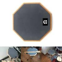 "8"" Soft Black Dumb Drum Pad Practice Mat Blow Plate Drummer Rubber Double Side"