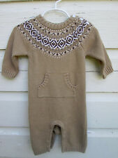 Baby Gap Boys Fair Isle Fall Sweater  Romper One Piece Size 3-6 Months