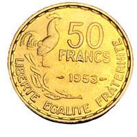 #3982 - RARE - 50 francs 1953 Guiraud SUP/SPL - FACTURE
