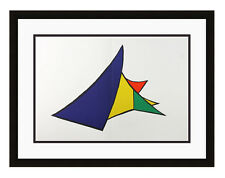 Authentic 1963 CALDER ORIGINAL Color Lithograph Pyramid Composition FRAMED COA
