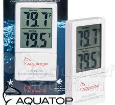External Digital Thermometer Dual Temperature LCD Display Aquarium Tank AquaTop