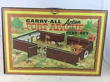 Vintage Marx Carry-All Fort Apache Playset Tin Litho
