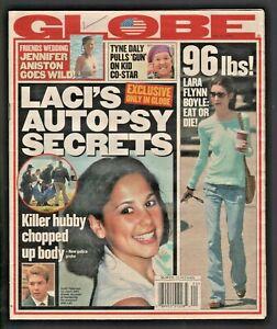 2003 May 20 Globe Magazine Jennifer Aniston Lara Flynn Boyle Laci Scott Peterson