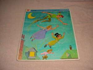 Vintage 1969 Peter Pan Walt Disney Whitman Frame Tray Puzzle # 4522