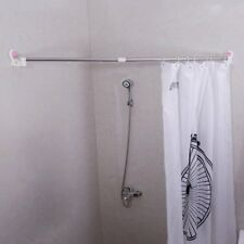 """Adjustable Shower Curtain Rod Tension Bathroom Suction Cup Towels Rail 37 - 61"""""""