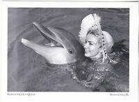 """""""Florida's Citrus Queen & Pancho/Dolphin-/*Marineland, Florida- {Postcard} (#246"""