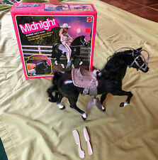 Vintage Midnight Black Stallion Barbie Horse w/ original box #5337