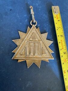 Masonic medal Holy Bible not silver