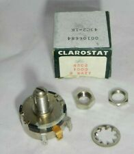 43C2 1K 1000 Locking Potentiometer Clarostat Linear Taper Locking Nos 2 Watt