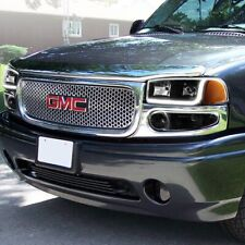 Fit Gmc Yukon/Sierra Denali Blk Drl Led Headlights+Bumper W/Amber Reflector Lamp (Fits: Gmc)