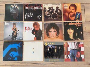 12 Schallplatten Pop/Rock: Queen, Tina Turner, Bruce Springsteen, LAW, Slade...