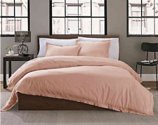 Bed Bath and Beyond Garment Washed Solid TWIN 2-Piece DUVET Cover Set in BLUSH