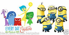 Minions Inside Out Despicable Wall Decal Sticker Home Living Nursery Decor