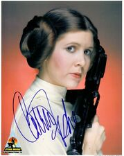 Carrie Fisher Autograph PP Signed Princess Leia Star Wars Hologram COA New Hope