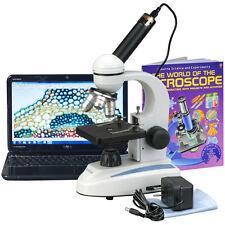 40X-1000X Metal Frame Glass Lens Digital Student Microscope + USB Camera & Book