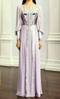 New 2020 Temperley London Queenie Studded Sequin Long Maxi Dress Gown UK 12 US 8