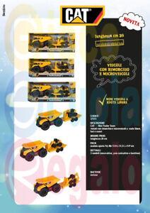 Caterpillar Cat Giocattolo Camion Luci e Suoni + Ruspa / escavatore / Backhoe