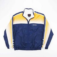 Vintage NIKE Blue Lightweight Lined Track Shell Sports Jacket Womens Size Small