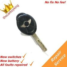 Mini One Cooper S 3 button faulty alarm key fob REPAIR SERVICE