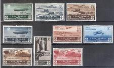 REGNO 1934 ECCEZIONALE MEDAGLIE Serie Aerea+Exp 9 Valori Nuovi MH Sas.250 Euro
