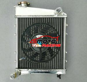 Alu Radiator + FAN For Austin Rover Morris Mini Cooper 850 1000 1100 1275 59-91