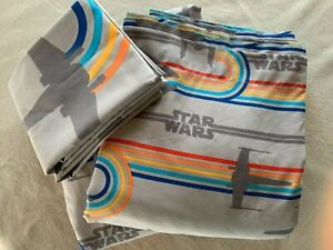 STAR WARS FULL SIZE 4 PIECE SHEET SET, TOP/FITTED/2 PILLOWCASES