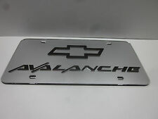 Chevy Avalanche Chrome Mirror License Plate Auto Tag
