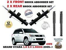 FOR SUZUKI GRAND VITARA AWD MODEL 2005-> 2X FRONT + 2 X REAR SHOCK ABSORBER SET