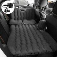 Car Air Bed Inflatable Mattress Travel Sleeping Camping Cushion Back Seat Black