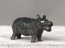 Petri Bergmann Vienna Bronze Miniature - Gray Hippo Standing - Cold Painted