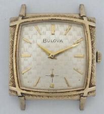 Vintage 1967 M7 Estuche de pantalla de TV Bulova Funky Reloj de Hombre con Dial de textura