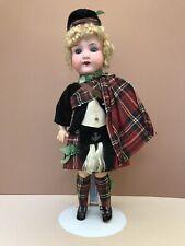 Antique German Bisque Doll: Scottish Boy – Armand Marseilles 390, 13 inches