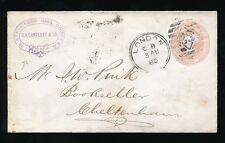 Go QV papeterie 1880 c un Bartlett jarretière Cameo... London double anneau duplex