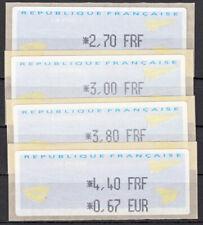 Briefmarken Frankreich FRA ATM ** 2000 Michel ATM 18.1ye = 4 Werte