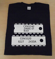 RETRO SYNTH SYNTHESISER CHIP DESIGN CEM 3340 3320 CURTIS T SHIRT S M L XL XXL