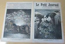 Le petit journal 1892 N° 87 Accident dans les Alpes Feu artifice Buttes Chaumont
