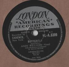 """Andy Williams - Butterfly 10"""" Single 1957 / 78 Rpm"""