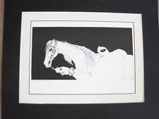 Amado Pena Native American Yaqui BW Rare Matted Print LA MANZANA 16 x 20