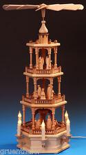Piramide 3-bastone elettrico 73cm Erzgebirge schalling Christi nascita mangiatoia + RK