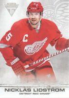 2011-12 Panini Titanium Hockey #42 Nicklas Lidstrom Detroit Red Wings