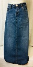 Vintage 1990 Suko Jeans Womens  Maxi Skirt Denim Size 5/6 Blue