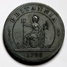 1798 UK Retro Pattern Proof /PL Cartwheel Twopence Bronzed Copper George III