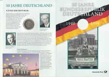 "Germany special folder 1999  ""50 years Federal Republic of Germany"" with coin"
